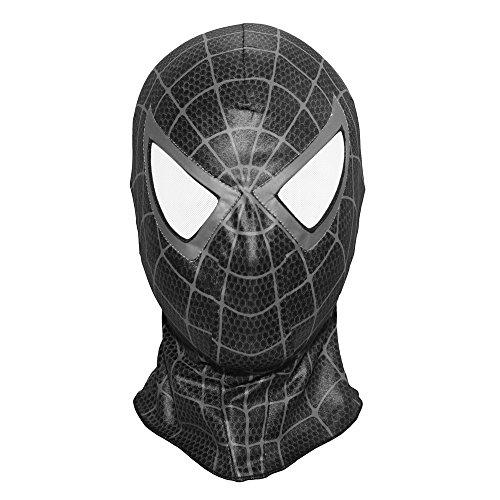 Spiderman 3 Homecoming Venom Mask Costume Cosplay Hood Adult (Black)
