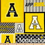 NCAA Appalachian State Mountaineers College Patch Fleece Multi, Fabric by the Yard