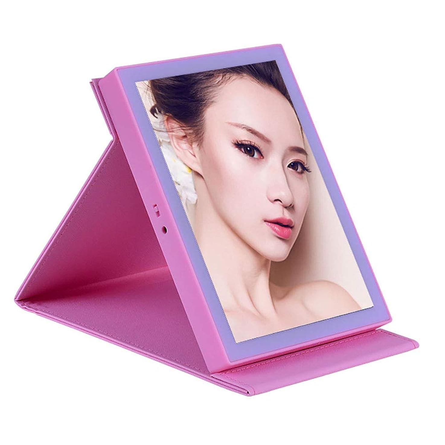 肥沃なウェイド高尚な化粧鏡は充電式シングルミラー自立型ポータブルミラーを主導