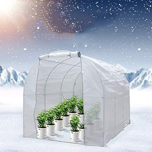 XY&CF-Flower house Serre Jardin (PE * 200 * 400 * 200 cm) à Membrane en Acier galvanisé métallique à Membrane épaisse en Maille PE de Jardin