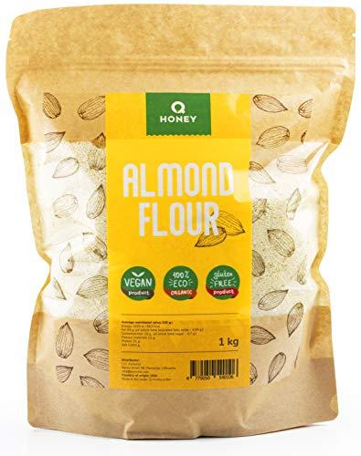 Mandelmjöl 1 kg, glutenfritt 100%, delvis oljat, extra fint blancherat, naturligt mandelmjöl