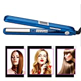 ADEKKPK Hair Straightener,2 in 1 Ceramic Flat Iron and Curling Iron, Ultrasonic Infrared Cold Ironing Straightening Iron,Suitable for All Types of Hair,Blue