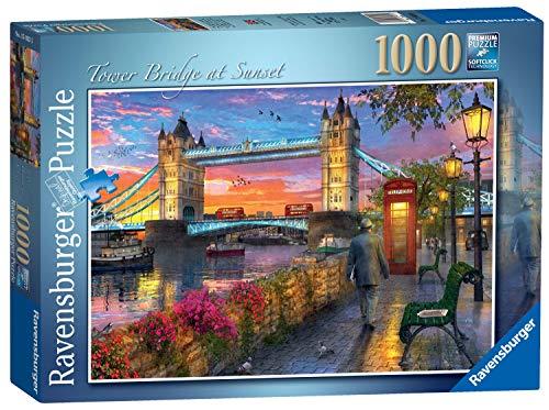 Ravensburger Puzzle 1000 Pezzi, Tower Bridge al Tramonto, Collezione Paesaggi & Foto, Puzzle Londra, Puzzle per Adulti, Rompicapo Ravensburger - Stampa di Alta Qualità