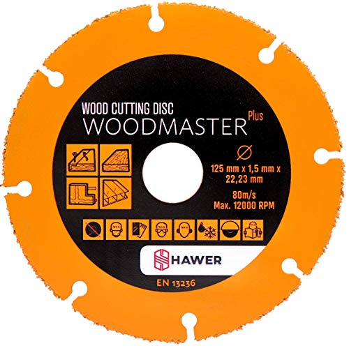 Tech-Parts Woodmaster Plus Holztrennscheibe für Winkelschleifer 125 mm Wood cutting Disc