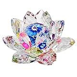Feng Shui de cristal de flor de loto 8,13 cm incluye + Mxsabrina rojo Pulsera cuerdas SKU: X9013