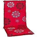 Beo Gartenstuhlauflage Sitzkissen Polster Stuhlkissen für Niedriglehner in rot Bedruckt mit floral...