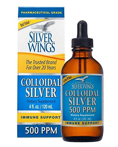 Dietary Mineral Supplement, Colloidal Silver, 500 PPM, 4 fl. oz. / 120 ml (Original Version)