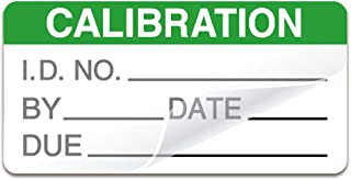 Self Laminating Calibration Labels 2 X 1 Inches - Write-on Calibration Stickers with Spiral Bound Cover for for NIST Calibration, ISO-900 Calibration 128 Labels (Green, 2 X 1 Inch)