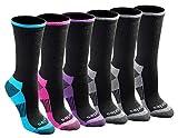 Dickies Women's Dritech Advanced Moisture Wicking Crew Sock (6/12, Black Fashion (6 Pairs), Shoe Size: 6-9