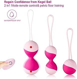 STLOVE Bolas Chinas de Silicona Médica, Kegel Bolas con Mando a Distancia, Bolas Ejercitador Suelo Pelvico para Mujer,Impermeable y recargable - Rosa