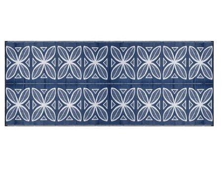 Camco 8X20 Reversible Outdoor Mat Botanical Blue