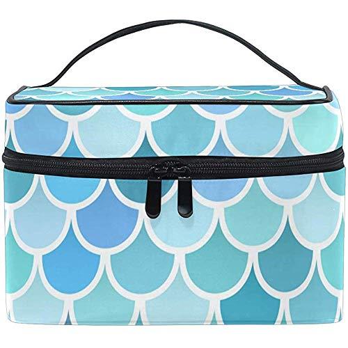 Fish Scale Cosmetic Bag Trousse de Toilette Portable Hanging Multifunctional Makeup Bag with Waterproof-X64-D5LB
