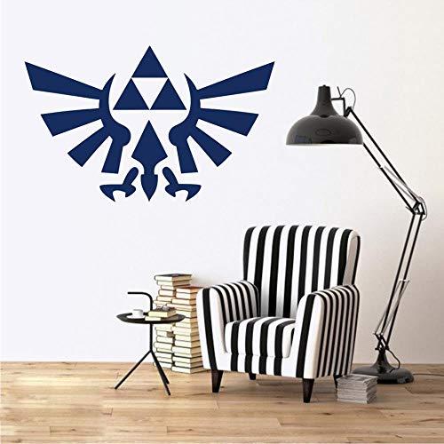The Legend Of Zelda Breath Of The Decal Triforce Decor Vogel Embleem Zelda Logo Verwijderbare Muursticker Voor Nintendo Gamer B677, H619 Groen, 57X36CM