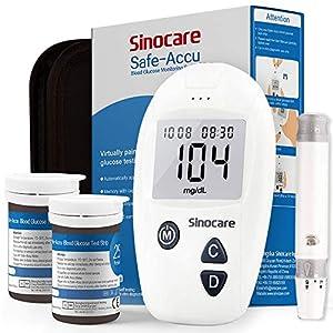 Glucosa en sangre kit de Safe Accu control de la diabetes kit de prueba de azúcar en sangre kit Pack 50 tiras para diabéticos-en mg/dL