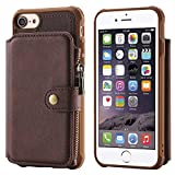 Case Compatible with iPhone 8 7 6s 6 4.7,Zipper Protective Cash Credit Card