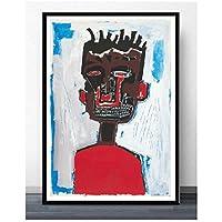 Suuyar ジャンミシェルグラフィティアーティストポスターとプリント壁アートプリントキャンバスにリビングルームホームベッドルーム装飾-20X28インチX1フレームレス