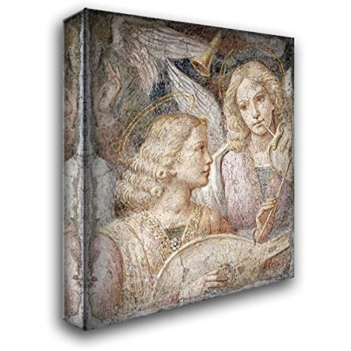 Luini, Bernardino 20x23 Gallery Wrapped Stretched Canvas Art Titled: Music Making Angels - a Fragment