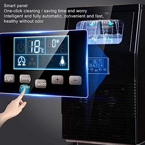 51Q5c 1MHHL - HIZLJJ Eiswürfelmaschinen, Kommerzielle Eismaschine, 88LBS / 24h freistehende bewegliche Edelstahl-EIS-Hersteller-Maschine unter Gegen Eismaschine for Restaurants Bars