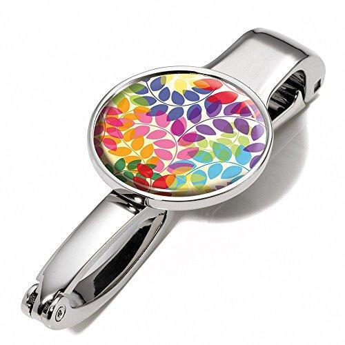 Handtaschenclip und -halter mit Dekor - #BGH03-A084 - Metall - glänzend - Motiv:
