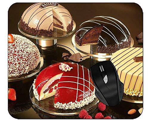 Rutschfeste Gummimaus Pad Biskuit Schokoladen Dessert Kuchen Cupcake Mousepad