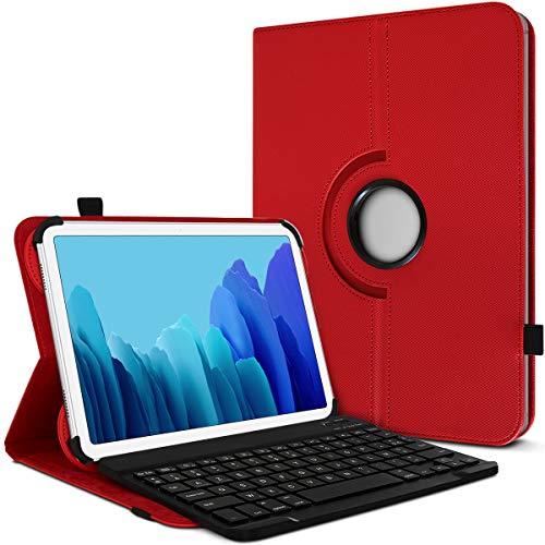 Karylax - Funda de protección y modo soporte horizontal con teclado francés Azerty Bluetooth para tablet Lenovo Yoga Tab 3 Pro de 10 pulgadas, color rojo