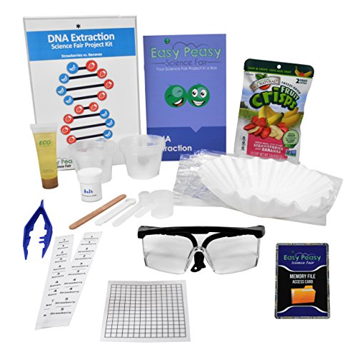Easy Peasy Science Fair DNA Extraction Project Kit –Top Science Learning Kit