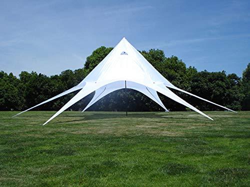 CLP Carpa en Forma de Estrella I Carpa de Eventos con 10 Metros de Diámetro I Carpa de Jardín con un Área Cubierta de 15 m² Aprox. I Color:, Color:Blanco