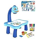 Máquina de pintura, proyector Smart Sketcher for niños, proyector de dibujo for niños con 12 bolígrafos de color juguetes de iluminación regalo de artesanía for niños liuchang20 ( Color : Blue )
