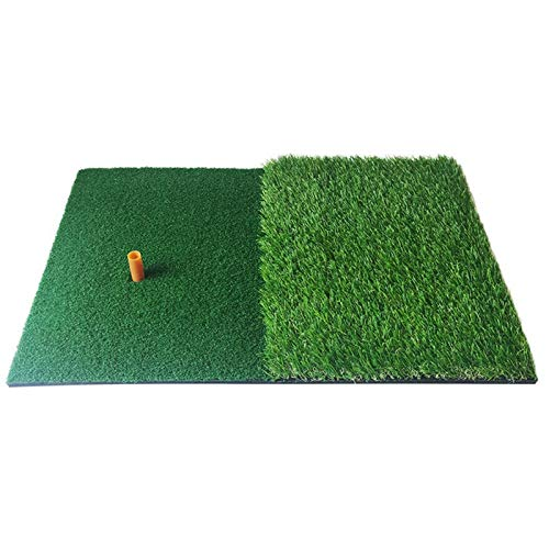 Esterilla de Golf portátil en para Entrenamiento Golf golpeando la estera 2 en 1 Práctica de golf Turf Hierba Mat para la formación Práctica de patio interior / al aire libre, Pad de entrenamiento de