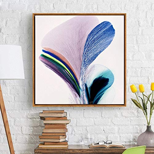N / A Abstract Wall Poster Art Color Canvas Painting Living Room Dining Room Decoration Painting Frameless 20x20cm