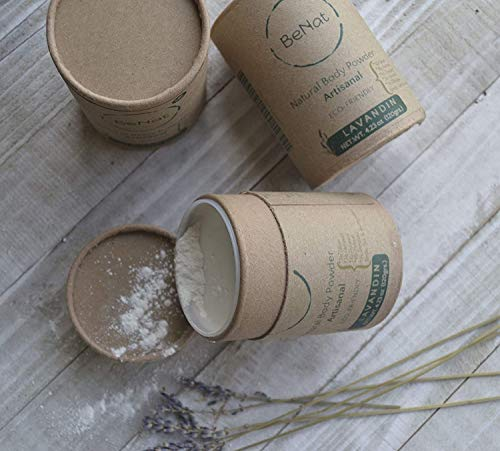 BeNat. All-natural Deodorant BODY POWDER. Eco-friendly, Low-waste. No-talc. 4.2 oz. Artisanal. Made with fewer, all-natural ingredients. For women, men, teenagers, kids, and babies!