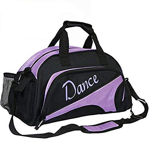 Bolsa de gimnasia para niñas, para ballet, hip-hop, saco de danza, para niñas, mujeres, para llevar a la noche