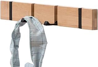 JIAGU Hangende Wandhaken Duurzame Wandmontage Kapstok Bamboe Houten Kapstok En Haak Rack Met Haken En Bovenste Plank Voor ...
