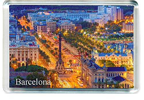 H228 Barcelona Imán para Nevera Spain Travel Fridge Magnet