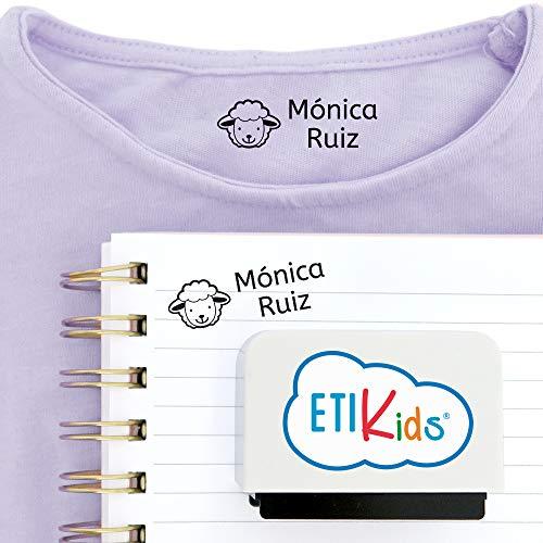 Sello personalizado para niños. Sello marcador de ropa y libros. Blanco