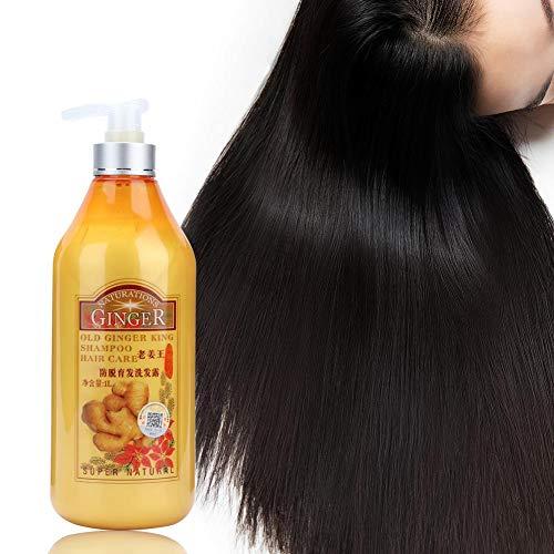 Shampooing au gingembre, contr?le professionnel de l'huile de cuir chevelu réparant, soin nourrissant pour cheveux fins, anti-pelliculaire, améliore l'environnement du cuir chevelu