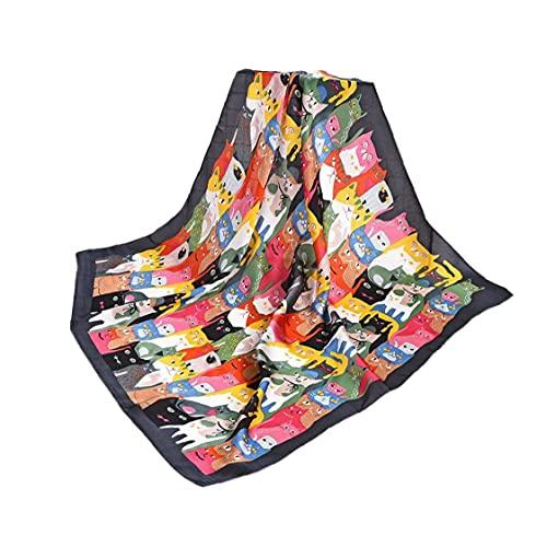 Ruluti Operador De La Mujer Square Soft Bufanda para Cuello De Usos Múltiples Imprimir Lazos del Pelo para Señoras