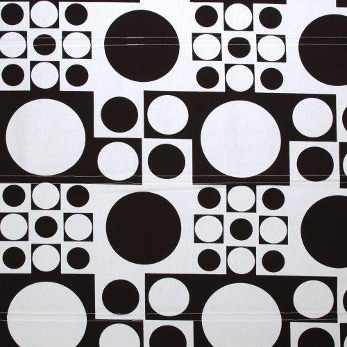 Liedeco Raffrollo Dakar, Rollo mit Seitenzug für Fenster und Tür schwarz weiß, 90 cm x 250 cm (B x L)