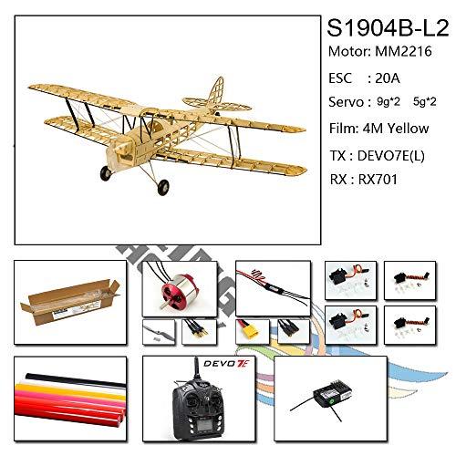 Goolsky Dancing Wings Hobby VX10 1//18 De Havilland Tiger Moth 400mm Apertura alare di legno Statico modello di aeroplano mestiere di arredamento in legno regalo per bambini e adulti
