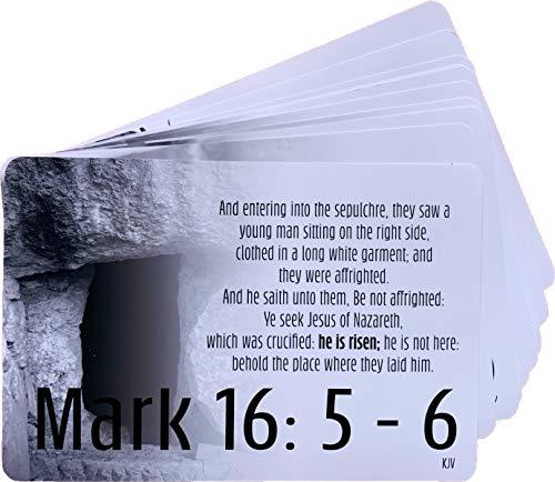 KJV Resurrection Scripture Cards (englischsprachig), inspirierende Erinnerungskarten mit Bibelvers, 10 Stück