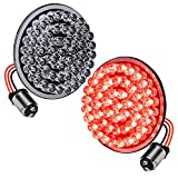 2' 1157 Rear Harley Red LED Turn Signal Tail Brake Light [Pair Set] [Black-Finish] [Bullet Style] Turn Signals...