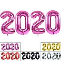 TONIFUL 2020 Happy New Year バルーン 40インチ ピンク 2020 数字バルーン アルミホイルマイラーバルーン 2020年 大晦日 クリスマス 記念日 パーティー用品