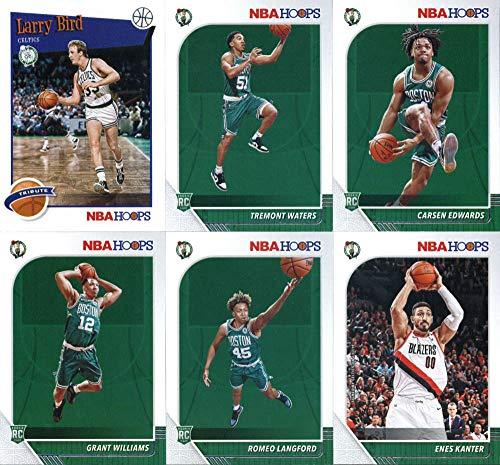 2019-20 Panini NBA Hoops Boston Celtics Team Set of 11 Cards: Jayson Tatum(#6), Jaylen Brown(#7), Marcus Smart(#8), Gordon Hayward(#9), Kemba Walker(#19), Enes Kanter(#164), Romeo Langford(#211), Grant Williams(#218), Carsen Edwards(#227), Tremont Waters(#237), Larry Bird(#289)