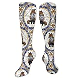 Stained Glass Fox Compression Socks, Best for Men & Women, Running, Flight, Travels£¬Parties