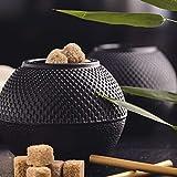 LumalandTeedose aus Gusseisen 750 ml Tetsubin Hobnail Aufbewahrungsbox für Tee, Zucker, Kandis - mit emaillierter Beschichtung und Deckel - Zuckerdose Zuckerspender Vorratsdose - Teekannen-Zubehör - 2