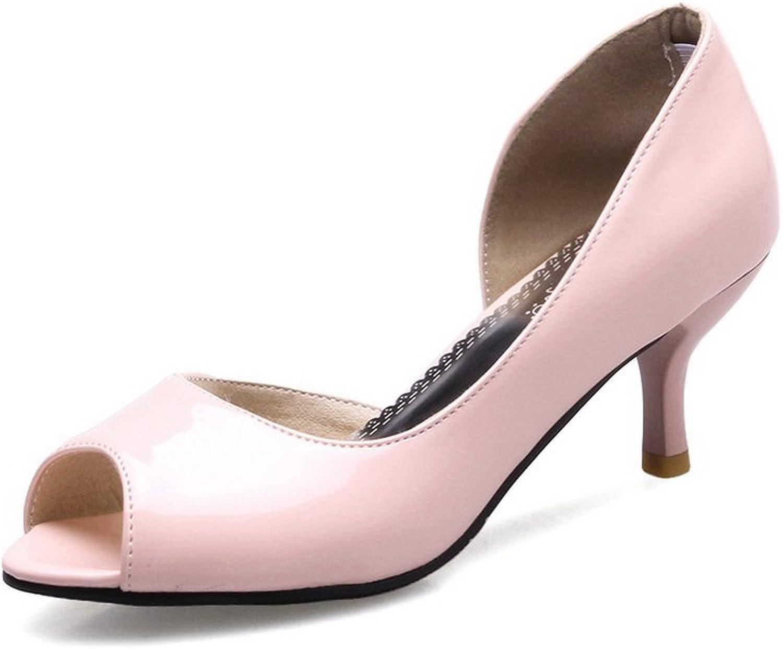 BalaMasa Ladies Peep-Toe Low-Cut Uppers No-Closure Urethane Sandals