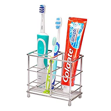 Ecrocy Stainless Steel Large Size Bathroom  Electronic Toothbrush Toothpast Holder - Stand Rack