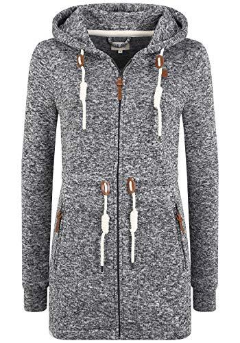 OXMO Thora Damen Fleecejacke Sweatjacke Jacke, Größe:XL, Farbe:Dark Grey (792890)