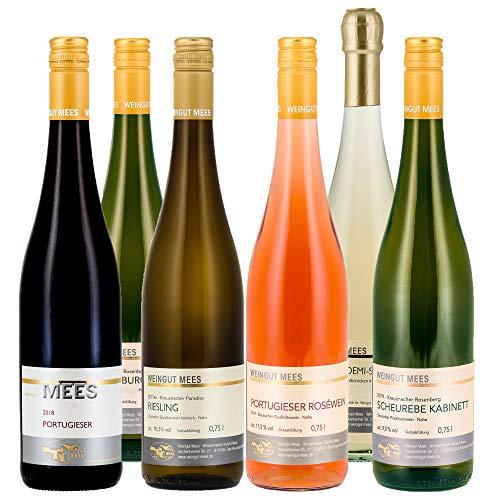 Weingut Mees SOMMERWEIN FRUCHTIG LIEBLICH, SÜSS FEINHERB UND HALBTROCKEN PROBIERPAKET Wein Weiss, Rosé, Secco Deutschland Nahe Paket (6 x 750 ml)
