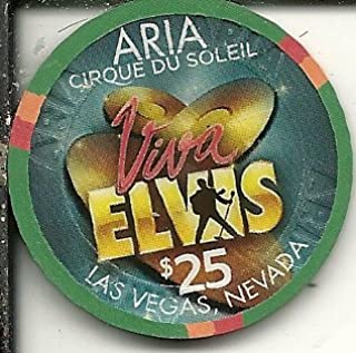 $25 aria viva elvis cirque du soleil las vegas nevada casino chip green